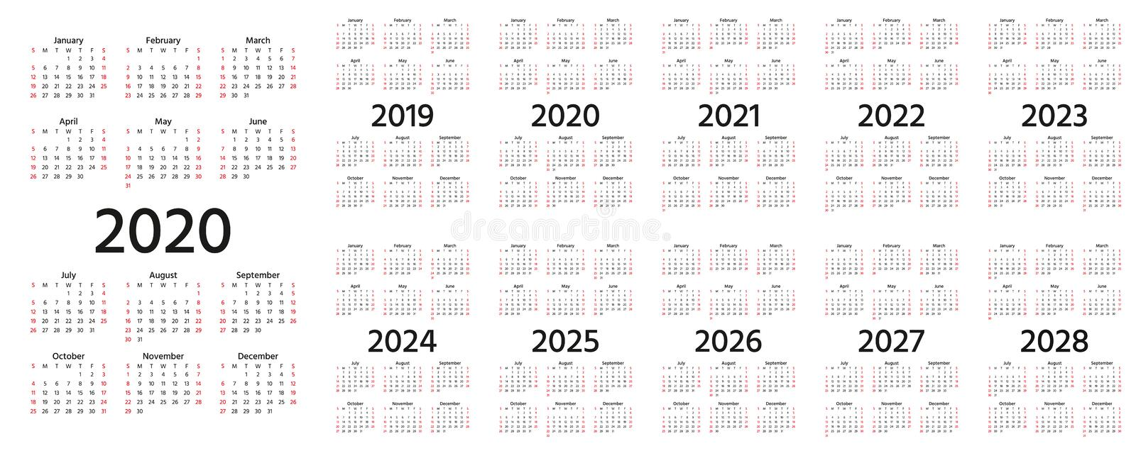Yearly Calender Stock Illustrations – 800 Yearly Calender Stock