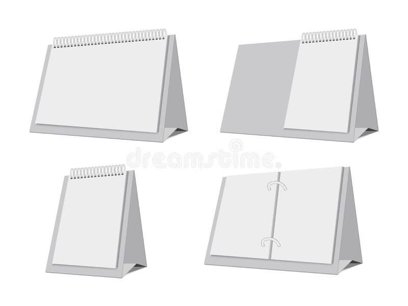 Calendari da tavolino vuoti Modello vuoto di vettore illustrazione vettoriale
