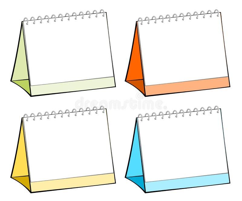 Calendari della tabella in bianco illustrazione di stock