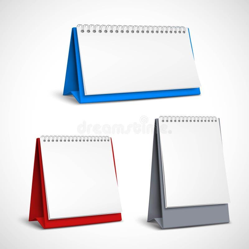 Calendari di spirale della tabella in bianco messi royalty illustrazione gratis