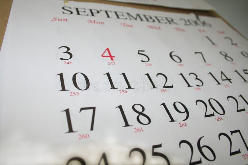 Calendario fotografía de archivo
