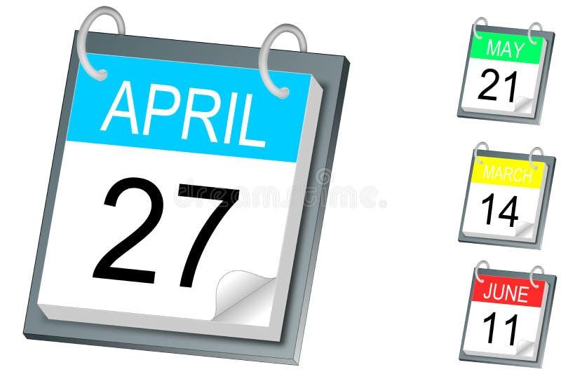 Calendario royalty illustrazione gratis