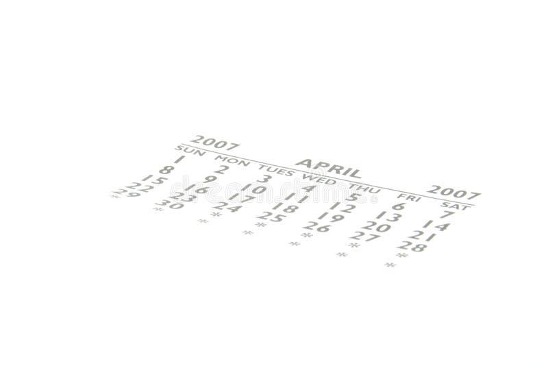 Calendario imagen de archivo