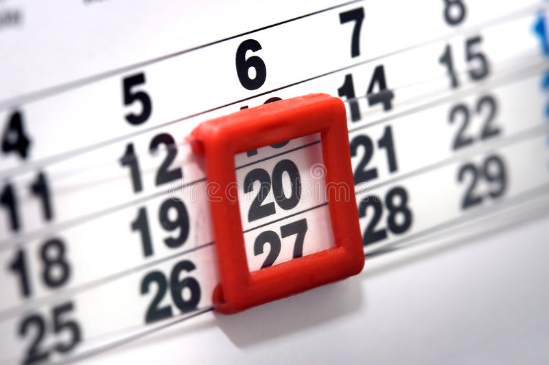 Calendario fotografie stock libere da diritti