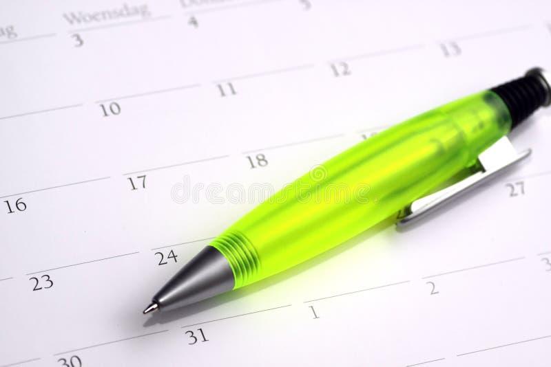 Calendario imagen de archivo libre de regalías