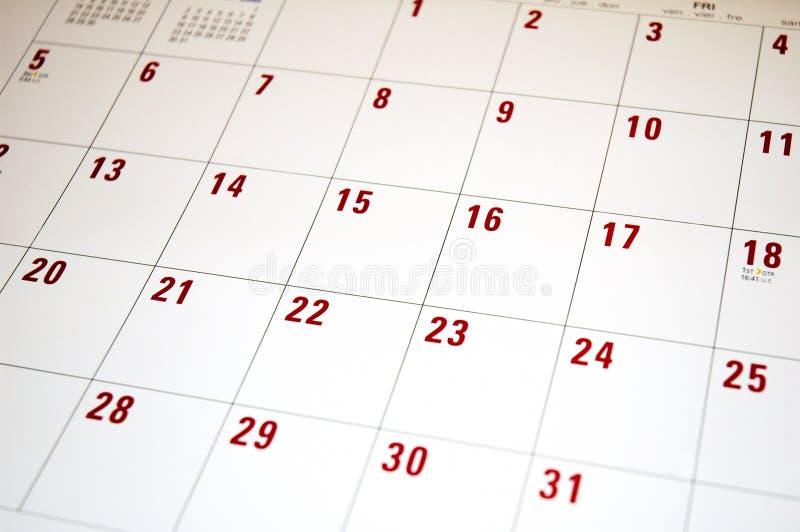 Calendario 2 fotografía de archivo