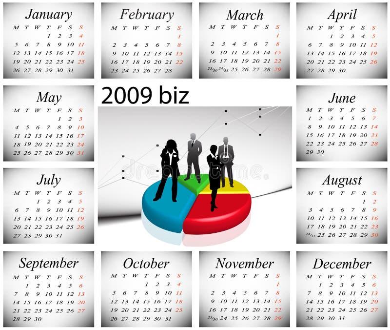 Download Calendario 2009 illustrazione vettoriale. Illustrazione di banca - 7311741