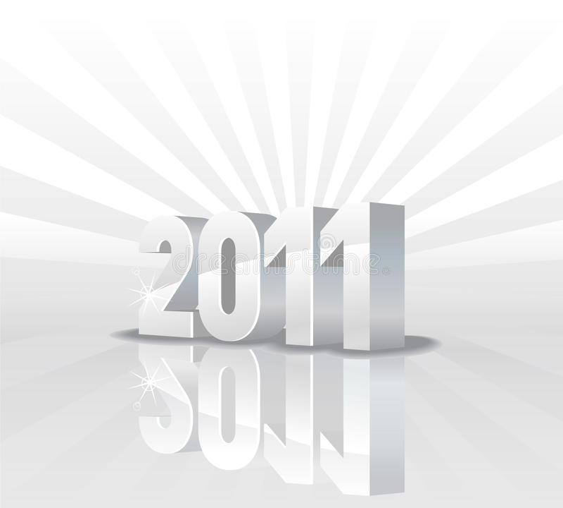 calendario 2011 ilustración del vector