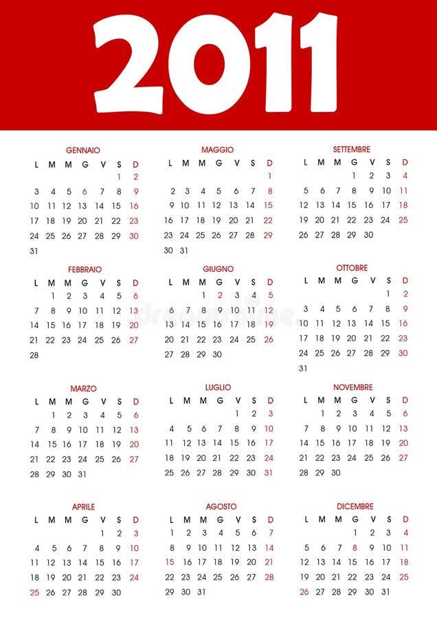 Calendario 2011 libre illustration