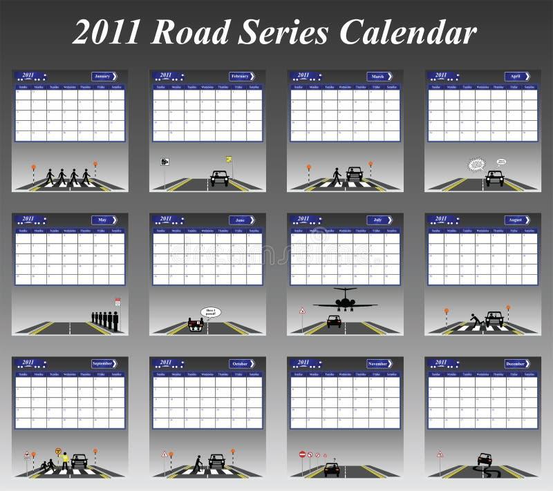 calendario 2011 di serie della strada royalty illustrazione gratis