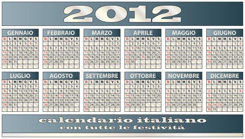 calendario 2012 libre illustration