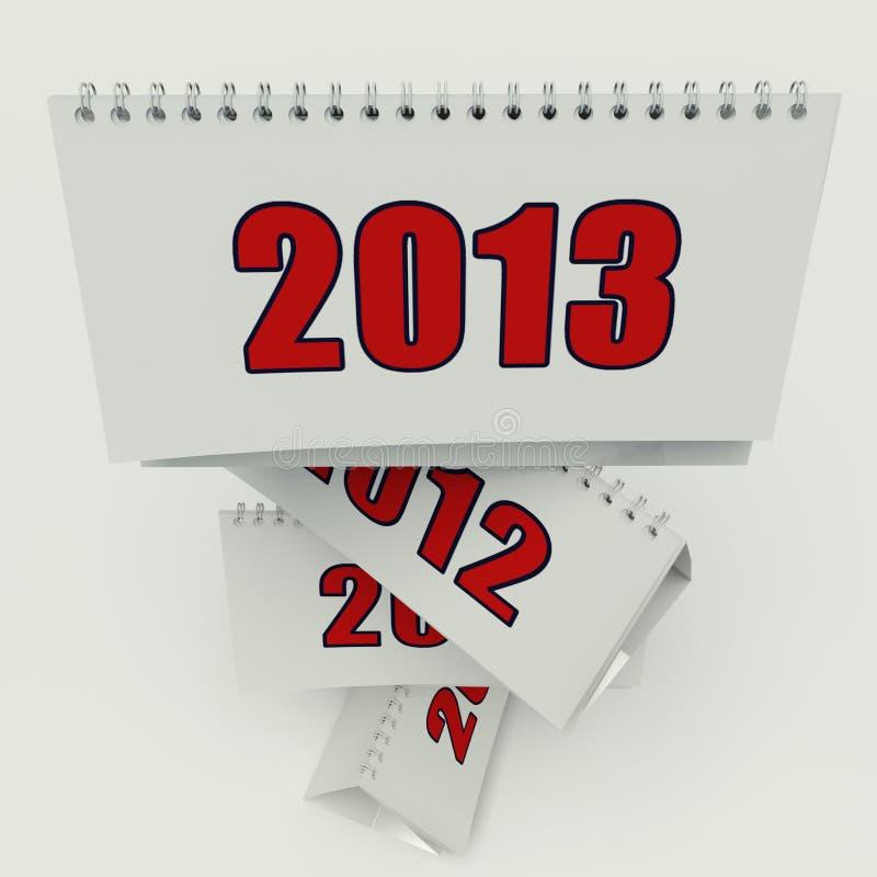 Calendario 2013 fotografia stock libera da diritti