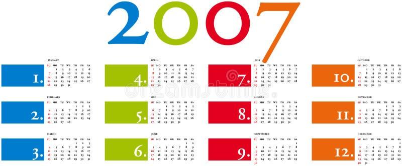 Calendario 3b vector illustratie