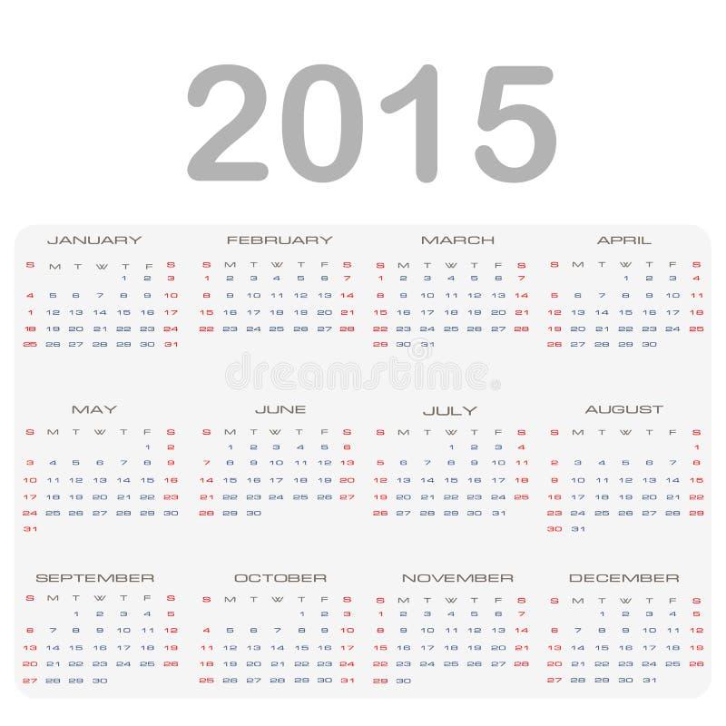 Calendario 2015 imagen de archivo libre de regalías