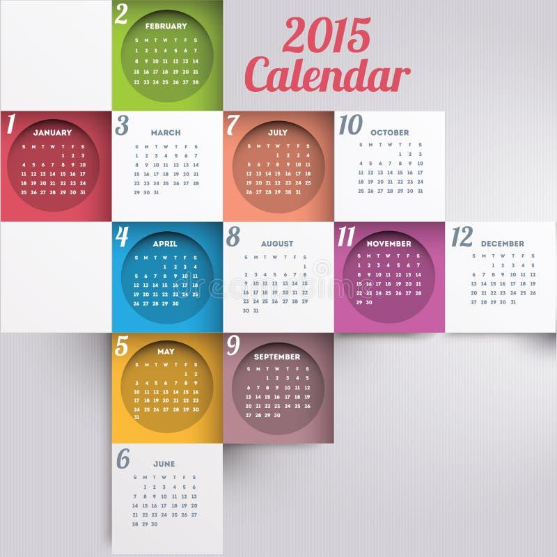 Calendario 2015 fotografie stock
