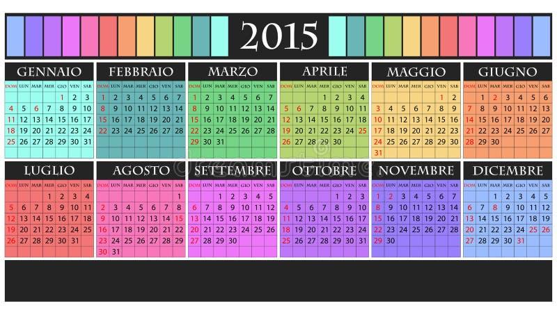 Calendario 2015 stock de ilustración