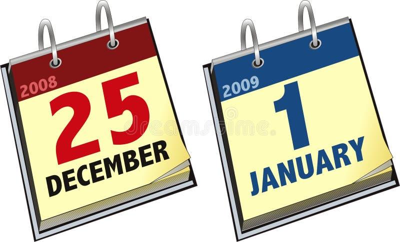 Download Calendario ilustración del vector. Ilustración de fecha - 7275831
