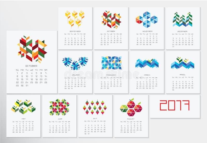 Calendario 2017 immagini stock libere da diritti