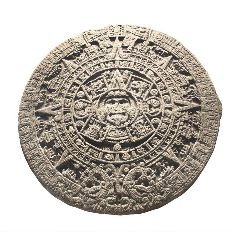 Calendario azteca de piedra antiguo imagen de archivo libre de regalías