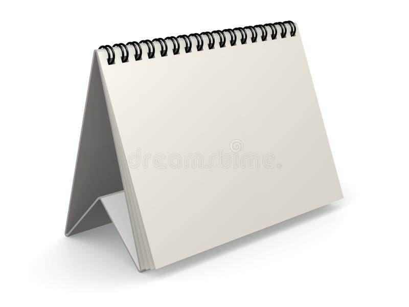 Calendario bianco in bianco illustrazione vettoriale