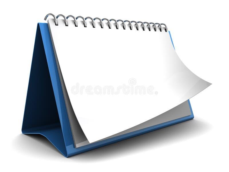 Calendario in bianco illustrazione di stock
