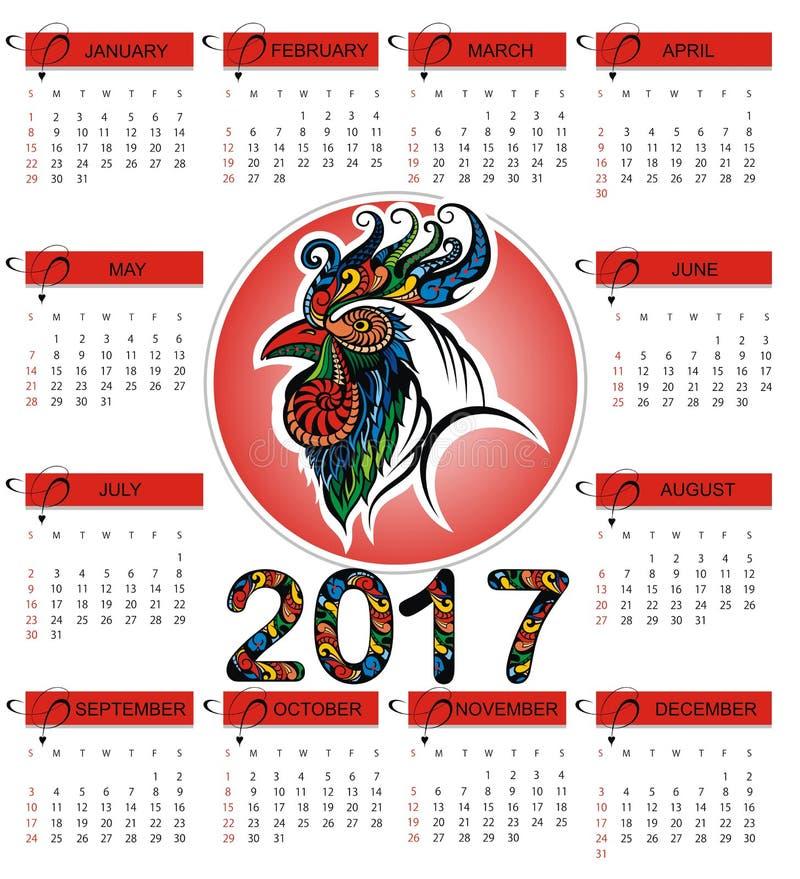 Calendario chino 2017 libre illustration