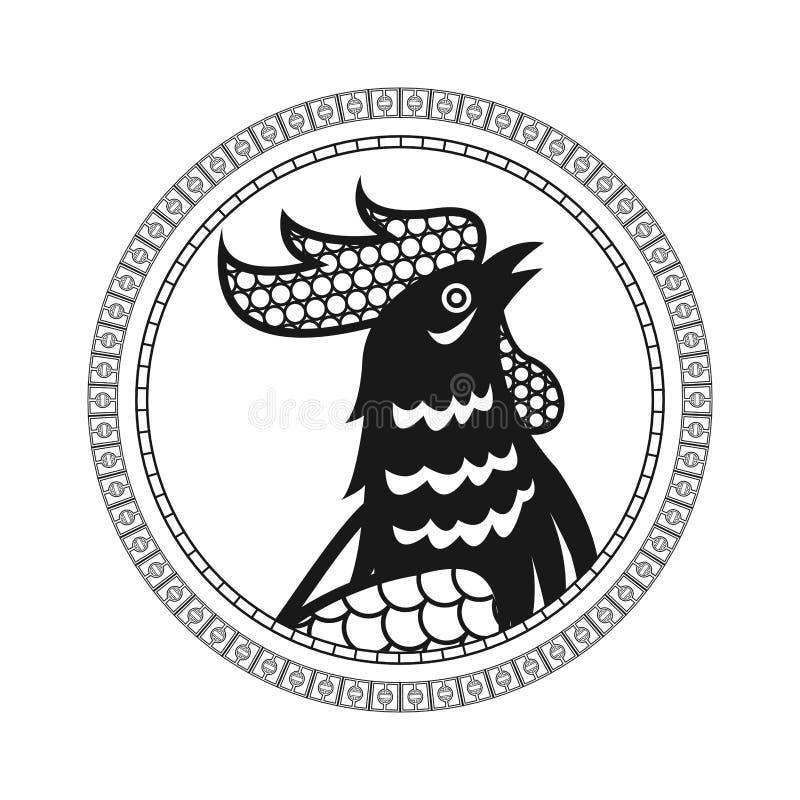Calendario cinese del gallo che accoglie nuovo anno royalty illustrazione gratis