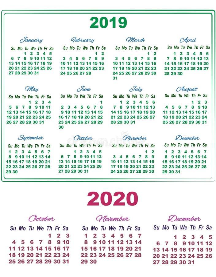 Calendario Novembre E Dicembre 2020.Calendario 2019 Con Luglio Gli Agosto E Settembre Di 2020