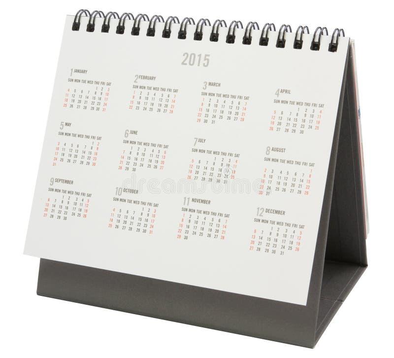 Calendario da scrivania 2015 immagini stock libere da diritti