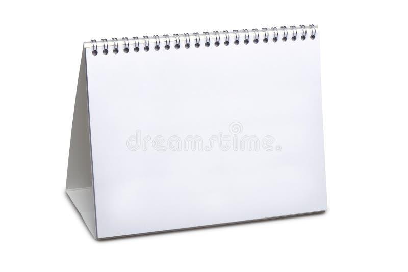 Calendario da scrivania in bianco isolato fotografia stock libera da diritti