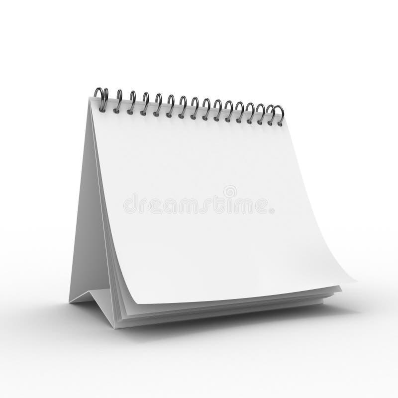 Calendario da tavolino in bianco illustrazione di stock