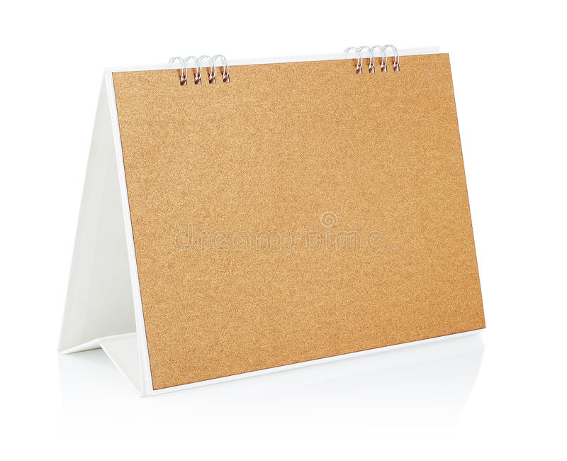 Calendario da tavolino in bianco. fotografie stock libere da diritti