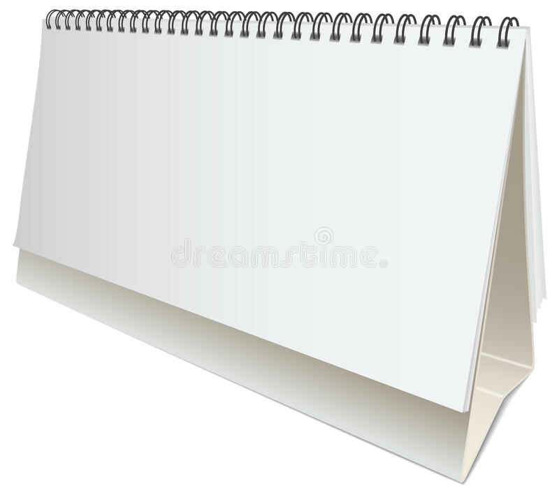 Calendario da tavolino in bianco di vettore royalty illustrazione gratis