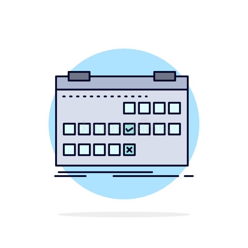 Calendario, data, evento, rilascio, vettore piano dell'icona di colore di programma royalty illustrazione gratis