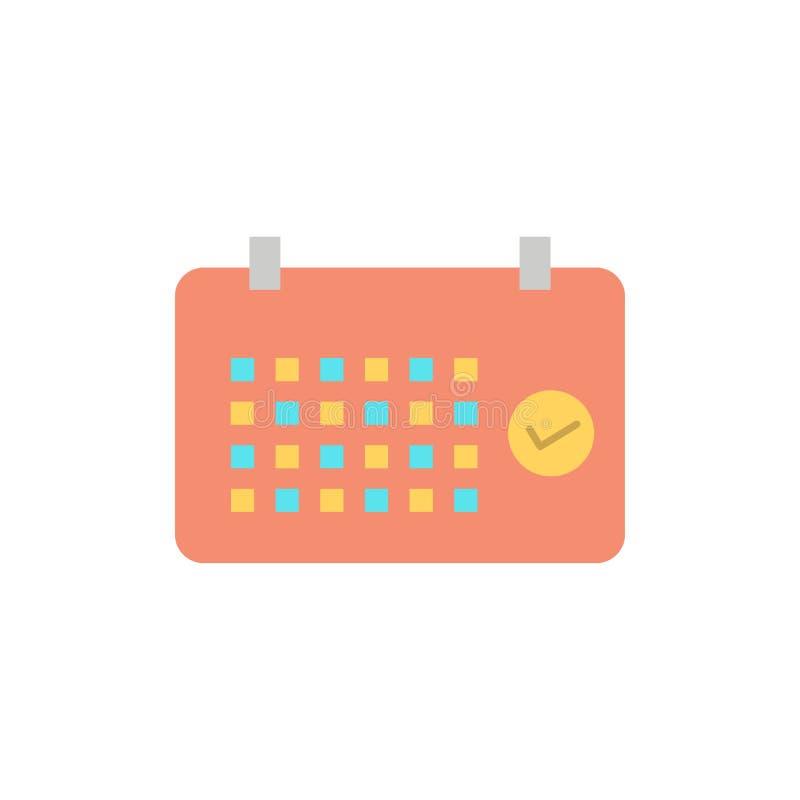 Calendario, data, mese, anno, icona piana di colore di tempo Modello dell'insegna dell'icona di vettore illustrazione vettoriale