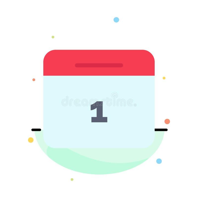 Calendario, data, mese, modello piano dell'icona di colore dell'estratto di giorno illustrazione vettoriale