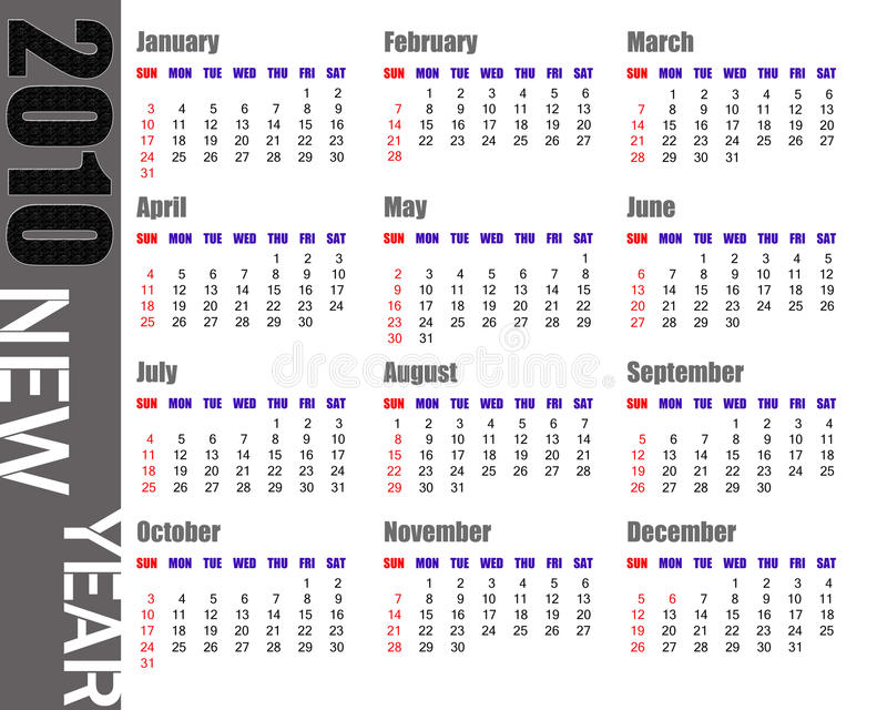 Calendario de 2010 libre illustration