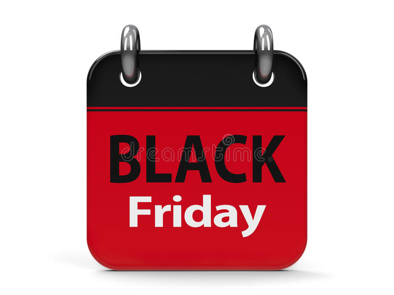 Calendario 2 de Black Friday stock de ilustración