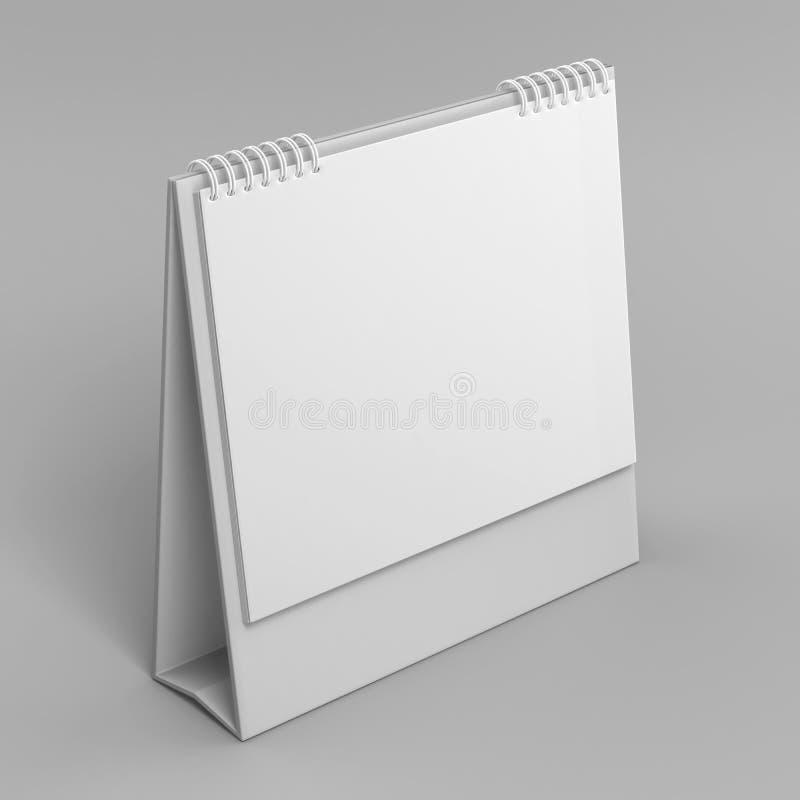 Calendario de escritorio en blanco aislado en el fondo blanco para la mofa para arriba y los diseños de la impresión 3d rinden la libre illustration