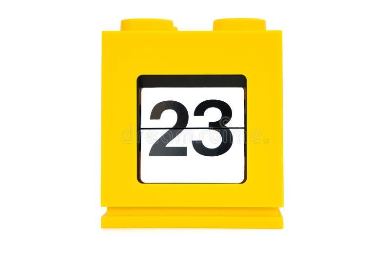 Calendario de la fecha fotos de archivo