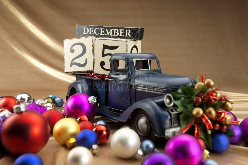 Calendario de la Navidad imágenes de archivo libres de regalías