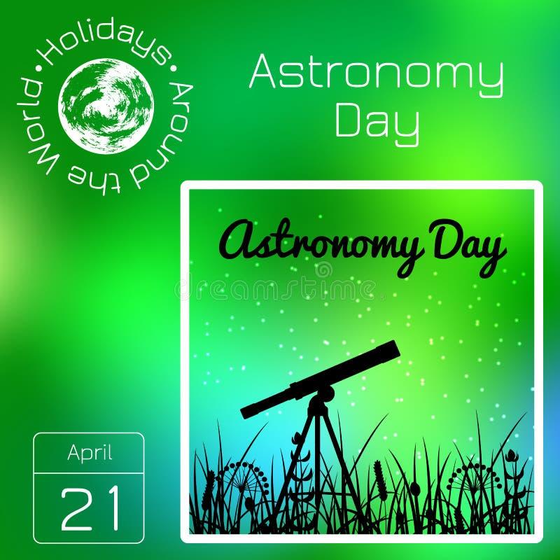 Calendario de la serie Días de fiesta en todo el mundo Evento de cada día del año Día de la astronomía libre illustration