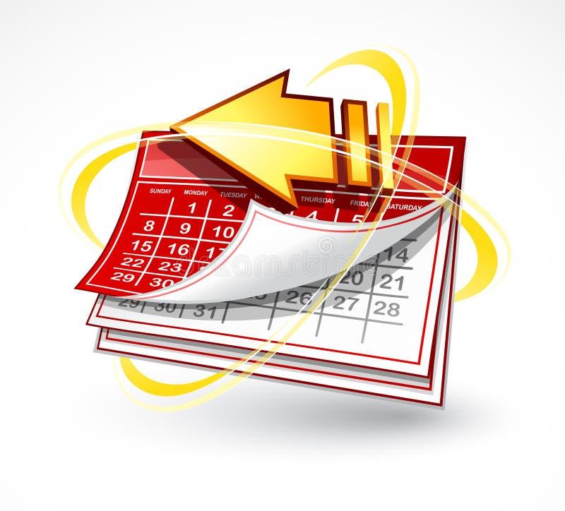 Calendario de papel con la flecha libre illustration