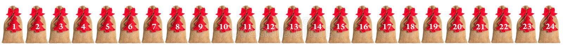 Calendario del advenimiento aislado imagen de archivo libre de regalías