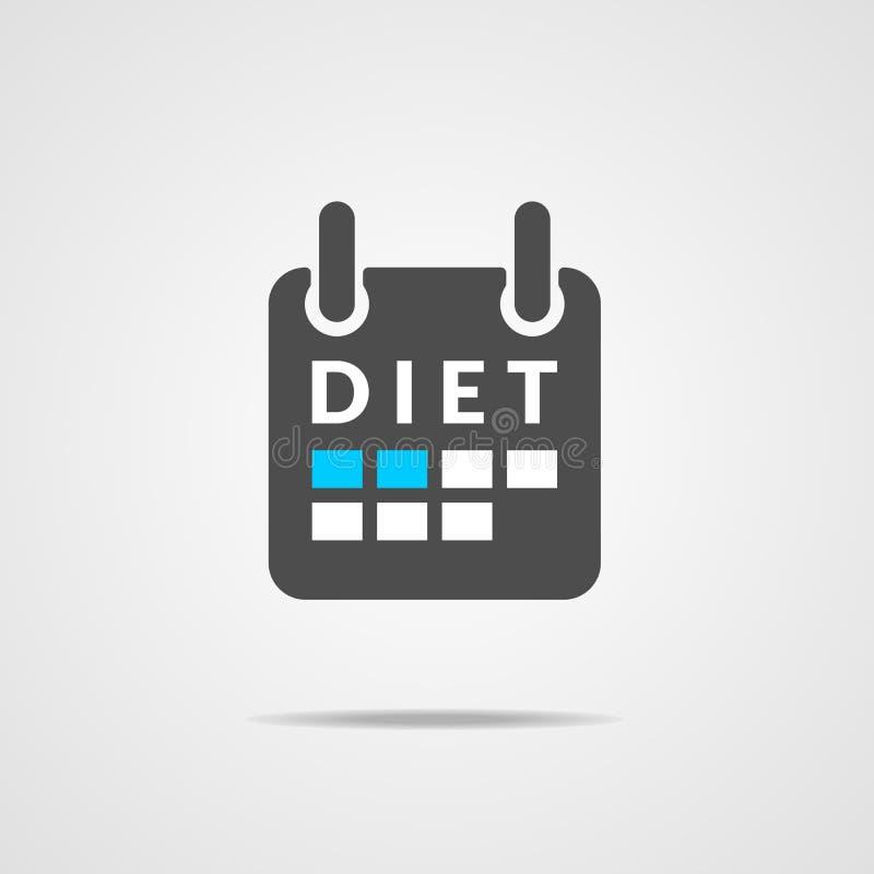 Calendario del icono de la dieta stock de ilustración