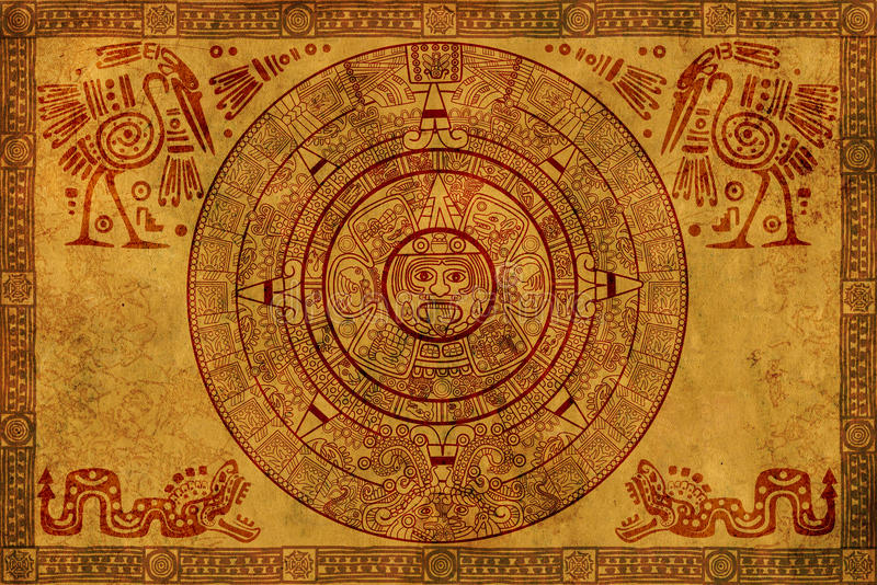 Calendario del Maya illustrazione vettoriale