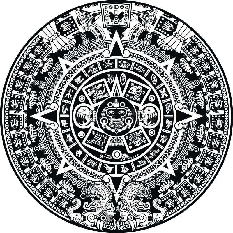 Calendario del maya ilustración del vector