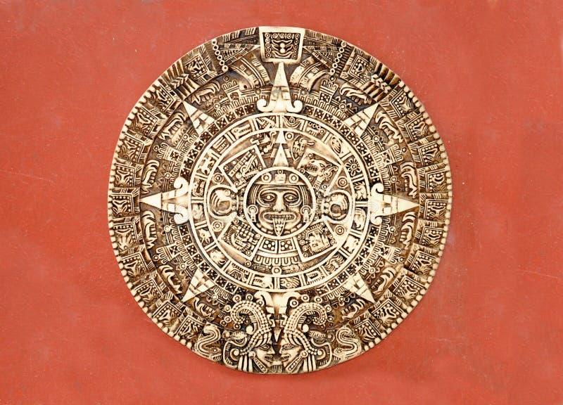 Calendario del maya fotos de archivo