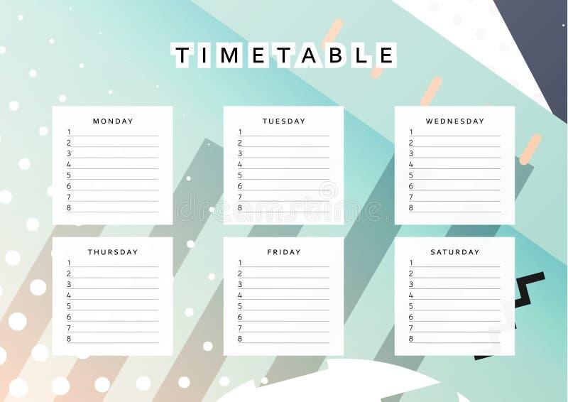 Calendario del pianificatore programmi la settimana fondo for Pianificatore di blueprint gratuito