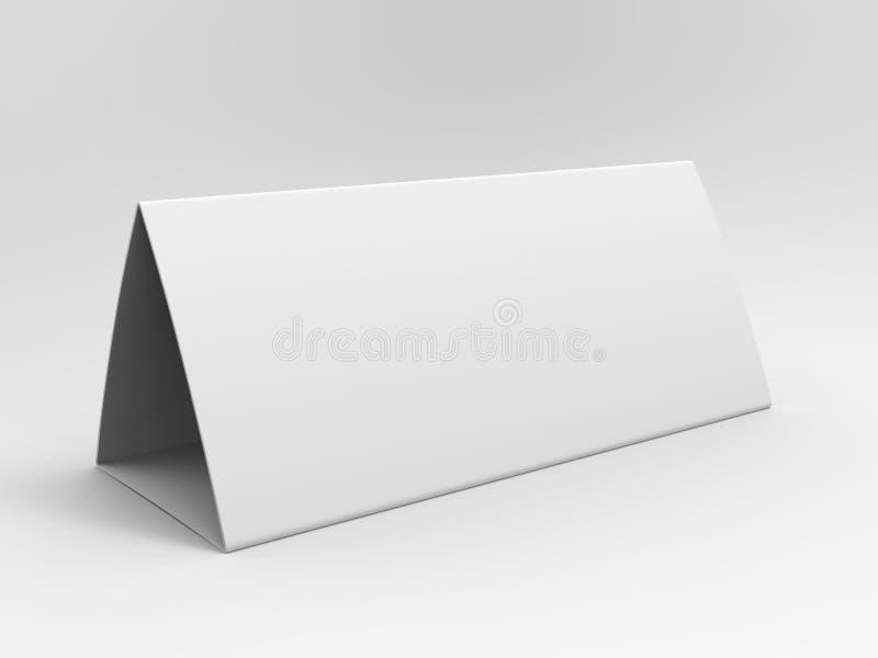 Calendario della tenda della tabella in bianco per progettazione del modello 3d rendono l'illustrazione illustrazione vettoriale